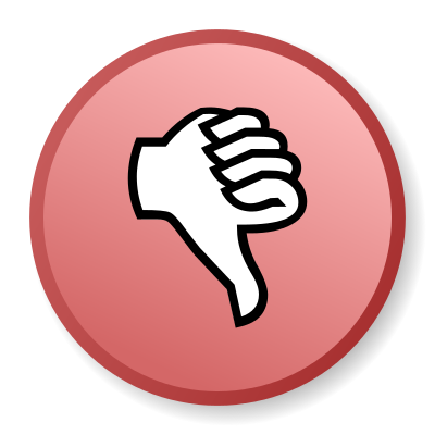 Thumb down icon.svg